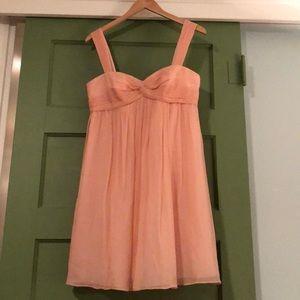 J.Crew Pink Silk Chiffon Dress